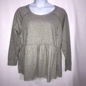 Torrid Gray Splatter Shirt Plus Size 2